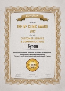 the IVF clinic award